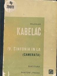 4. sinfonija in la (Camerata), op. 36