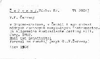 V. F. Červenyj v g. Gradec-Kralove, v Čechii i jego oblast' mědnych duchovnych muzykal'nych instrumentov