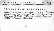 Brahms Magyaroszágon