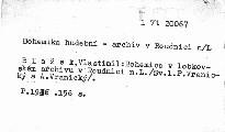 Bohemica v lobkovském zámeckém archivu v Roudnici