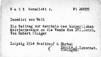 Benedict von Watt