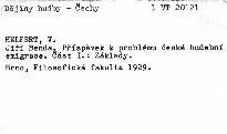 Jiří Benda                         (I. část, země Česká)