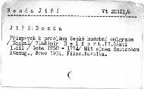 Jiří Benda                         (II. část, 1. díl)