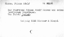 Der Operntypus Johann Adolf Hasses und seine Textl