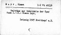Beiträge zur Geschichte der Oper