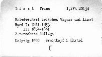 Briefwechsel zwischen Wagner und Liszt                         (Erster Band)