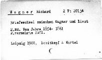Briefwechsel zwischen Wagner und Liszt                         (Zweiter Band)