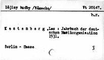 Jahrbuch der deutschen Musikorganisation 1931
