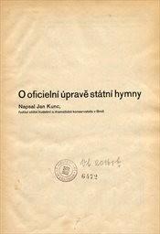O oficielní úpravě státní hymny