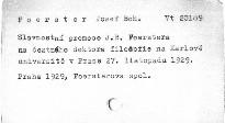Slavnostní promoce J.B.Foerstera na čestného