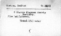 O Hlavovu diagnosu choroby Smetanovy