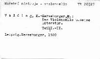Das Violoncello und seine Literatur
