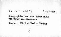 Monographien zur russischen Musik