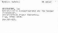 Demokratische Musikerziehung und die Tschechoslovakei
