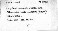 Na počest 60. narozenin Josefa Suka