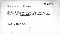 Richard Wagner in der Karikaturen von ...