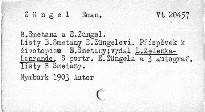 B. Smetana a E. Zuengel