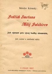 Bedřich Smetana a Milij Balakirev