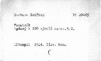 Památník vydaný k stému výročí narozenin tvůrce české hudby Bedřicha Smetany péčí slavnostního komitétu oslav Smetanových v Litomyšli