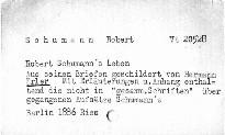 Robert Schumann's Leben