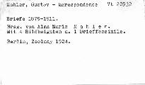 Gustav Mahler Briefe