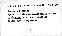 """Glinka M.I.: """"Ruslan i Ljudmila"""""""