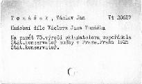Hudební dílo Václava Jana Tomáška