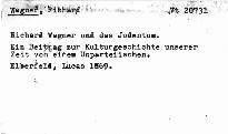 Richard Wagner und das Judenthum