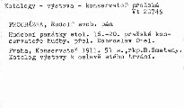 Hudební památky stol. XVI.-XX. pražské konservatoře hudby