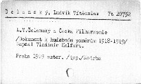 L.V. Čelanský a Česká filharmonie