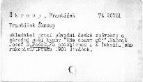František Škroup, skladatel první původní české zpěvohry a národní naší hymny Kde domov můj?