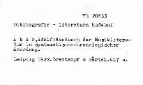 Handbuch der Musikliteratur in systematisch-chronologischen Anordnung