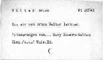 Was wir von Bruno Walter lernten