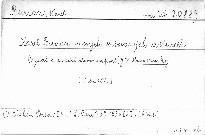 Komorní pěvec Karel Burian ve svých veršovaných dopisech                         (Díl 1)