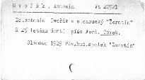 "Dr. Antonín Dvořák a olomoucký ""Žerotín"""