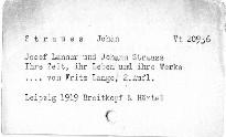 Josef Lanner und Johann Strauss
