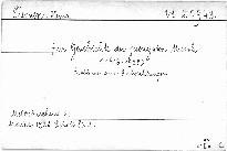 Zur Geschichte der jüngsten Musik /1913-1928/