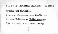 Orpheus und Eurydike von Ch.W. Gluck