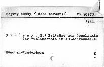 Beiträge zur Geschichte der Violinsonate im 18.Jh.