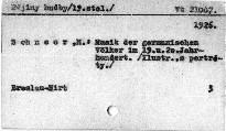 Musik der germanischen Völker im XIX. und XX. Jahrhundert