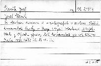 Josef Slavík ve vlastním podpisu a v autografech v