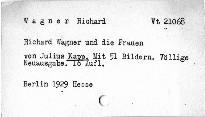 Richard Wagner und die Frauen
