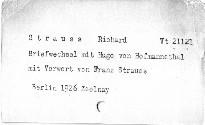 Richard Strauss Briefwechsel mit Hugo von Hofmannsthal