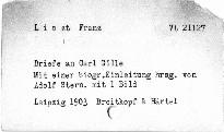 Franz Liszt's Briefe an Carl Gille