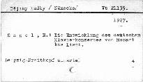 Die Entwicklung de deutschen Klavierkonzertes von