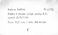 Studie k etapám vývoje epochy Bedřicha Smetany