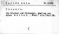 Béla Bartók: Konzert