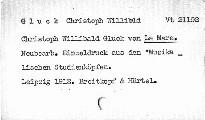 Christoph Wilibald Gluck