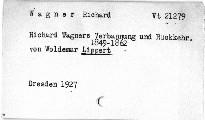 Richard Wagner's Verbannung und Rückkehr 1849-1862