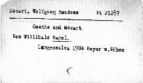 Goethe und Mozart